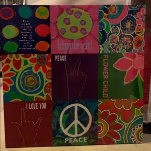 Big hippie picture for peace or hippie room!